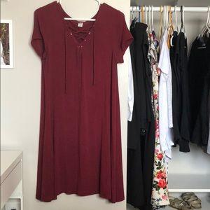 🔴 Burgundy Summer Dress